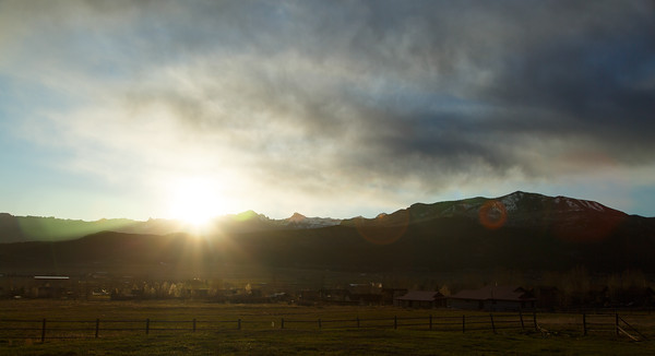 Sunrise over Ridgway - 032915 - 730AM