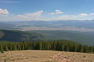 Looking northeast toward Leadville.