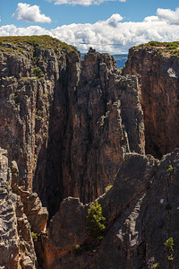 Craggy winding walls of the Black Canyon