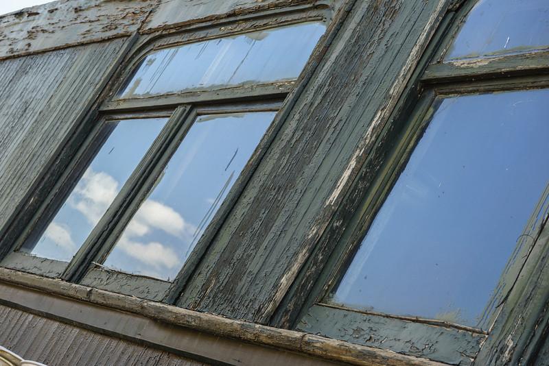 Railcar Window Reflection