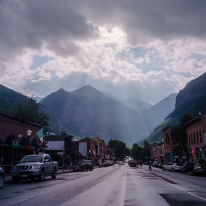 Sunbeams Breaking over Telluride