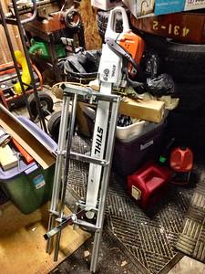 "Stihl MS 391 Chainsaw with Granberg 36"" Alaskan Sawmill"