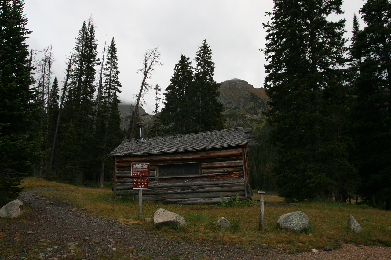 Mt. Mahler above the cabin in the clouds