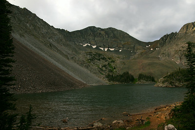 Lake Agnes, with Richthofen in the background.  Mahler to the right, Crags to the left