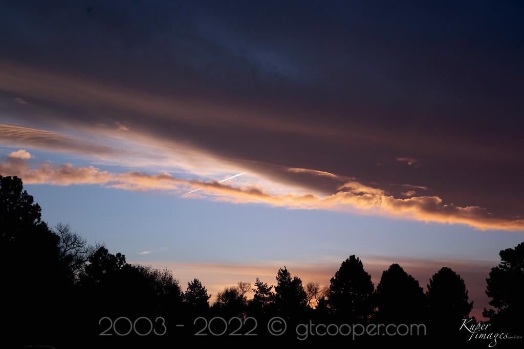 Early Evening Sunset -- Denver