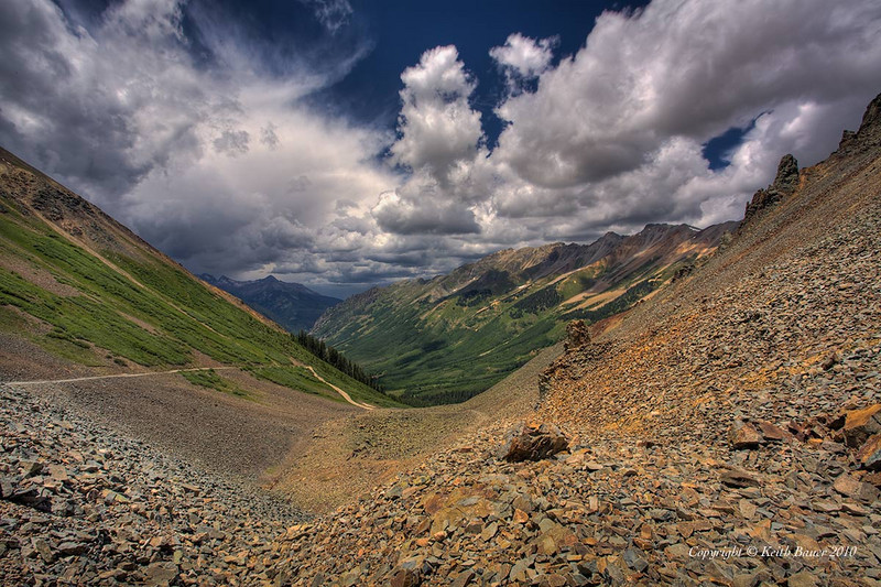The view from Ophir Pass