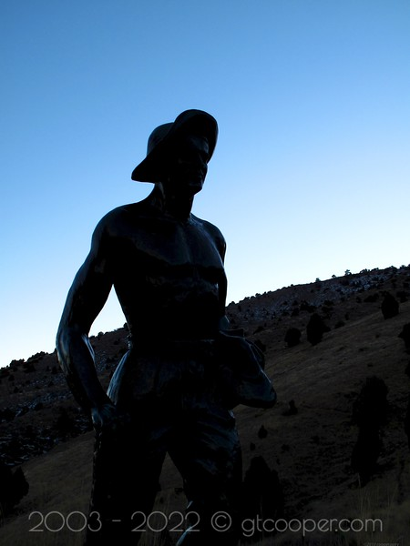 """Dedication to Miners""<br /> Red Rocks<br /> Morrison, Colorado"
