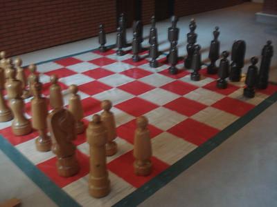 Oberwolfach hallway chess