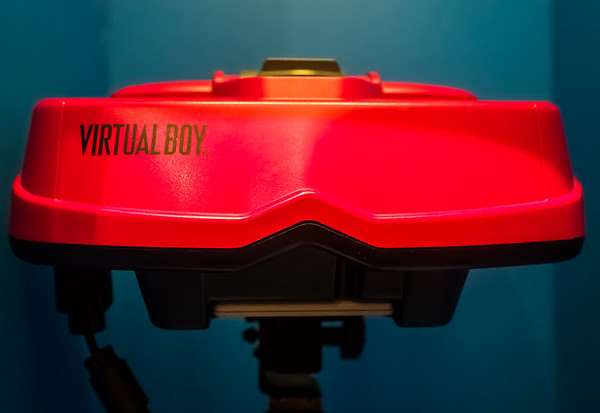 Virtual Boy helmet in Computerspielemuseum, Berlin