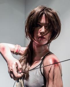 Lara Croft in Computerspielemuseum, Berlin