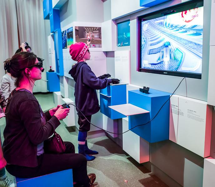 3D glasses in gaming in Computerspielemuseum, Berlin