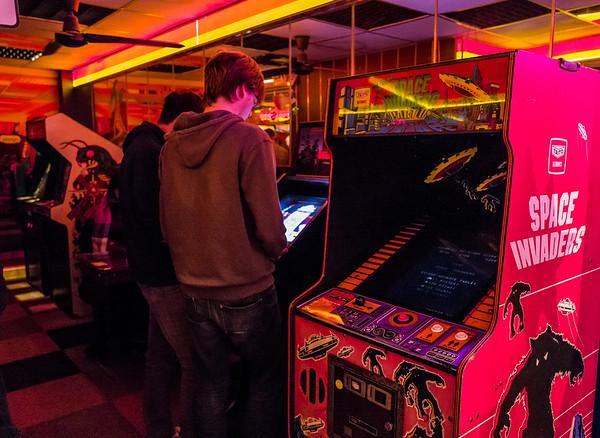 Arcades and Space Invaders in Computerspielemuseum, Berlin