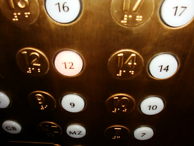 Superstitious hotel elevator