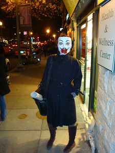 Bloody Guy Ffawkes on the street