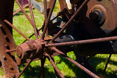 So many of the tractors, engines, and whatsits were fully restored, but I really liked the rust on this piece.  Taken at Antique Engine and Tractor Show - Somers, CT, US