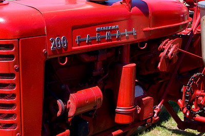 This is the same FarmAll 200 tractor from the previous shot. The paint job was just so vivid.  Taken at Antique Engine and Tractor Show - Somers, CT, US
