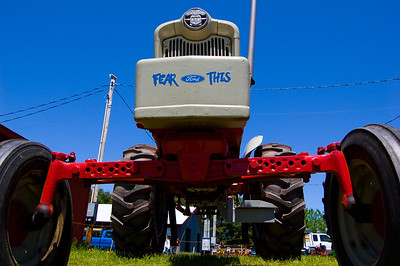 Fear This, indeed. I really like shooting wide-angles low to the ground.  Taken at Antique Engine and Tractor Show - Somers, CT, US