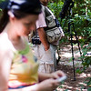 Children's Rain Forest Tour guide. Helene is checking emails (not really. She's checking her camera)