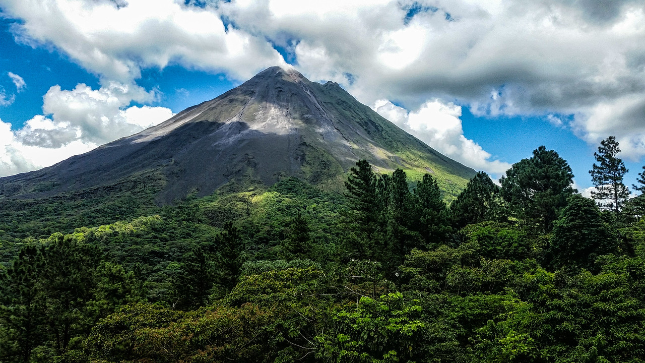 Arenal Volcano - view from our porch