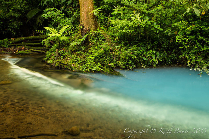 The Rio Celeste - Where the rivers merge