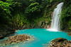 The waterfall on the Rio Celesete - Yes those colors are real!