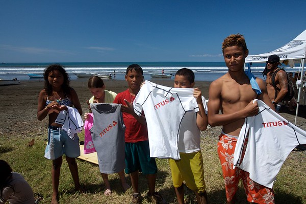Some of the rash guards we gave away.