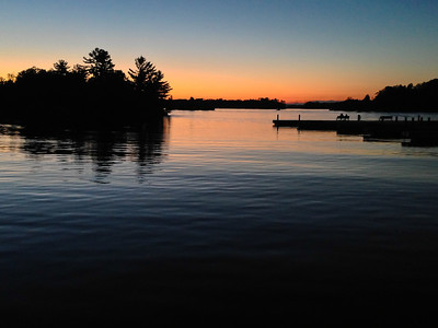 Sunset after the storm. Lake Muskoka from the Wharf at Gravenhurst