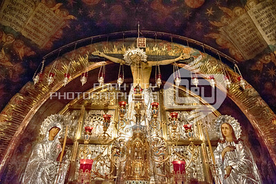 In the church of the Holy Sepulchre