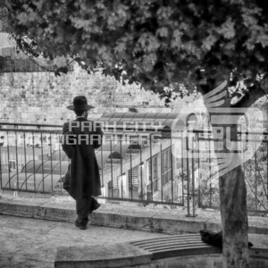 Contemplation outside the Western Wall