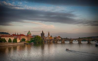 Prague at dusk, August 2015