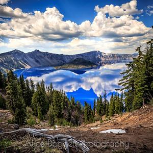 Reflections At Crater Lake (Square), Crater Lake National Park, Oregon