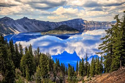 Reflections At Crater Lake, Crater Lake National Park, Oregon