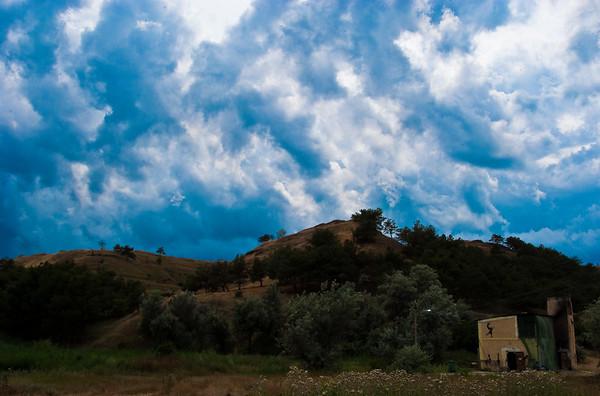 Sky above Crimea