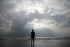 Anthony Gormley Statues 'Another Place' at Crosby Merseyside