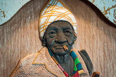 Wood Carving - Old Woman