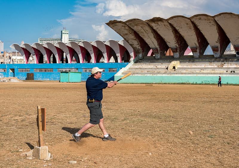 Here I am taking a turn at bat