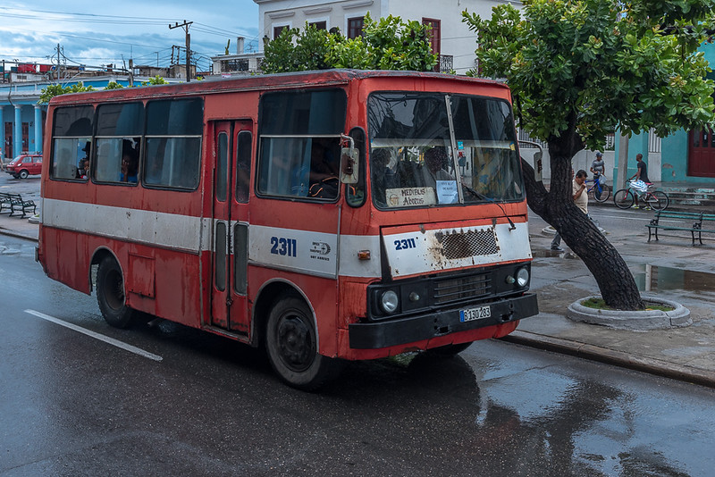 Soviet made bus