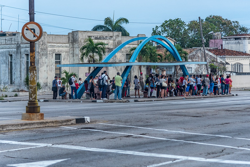 Bus Stop in suburbs of Havana