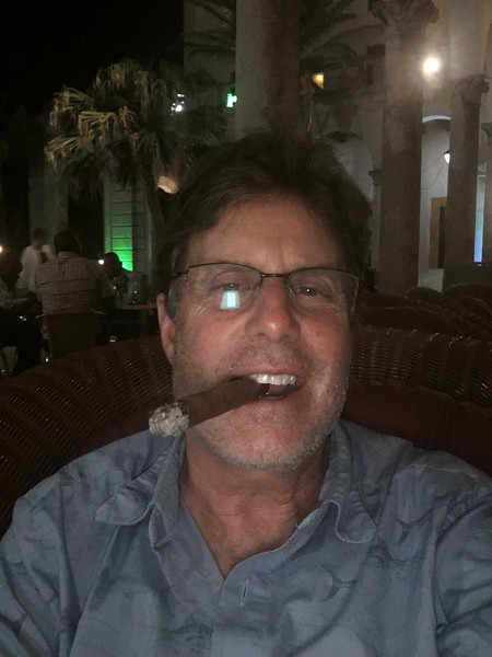 Enjoying a cigar and a few mojitos on the patio of the Hotel Nacional