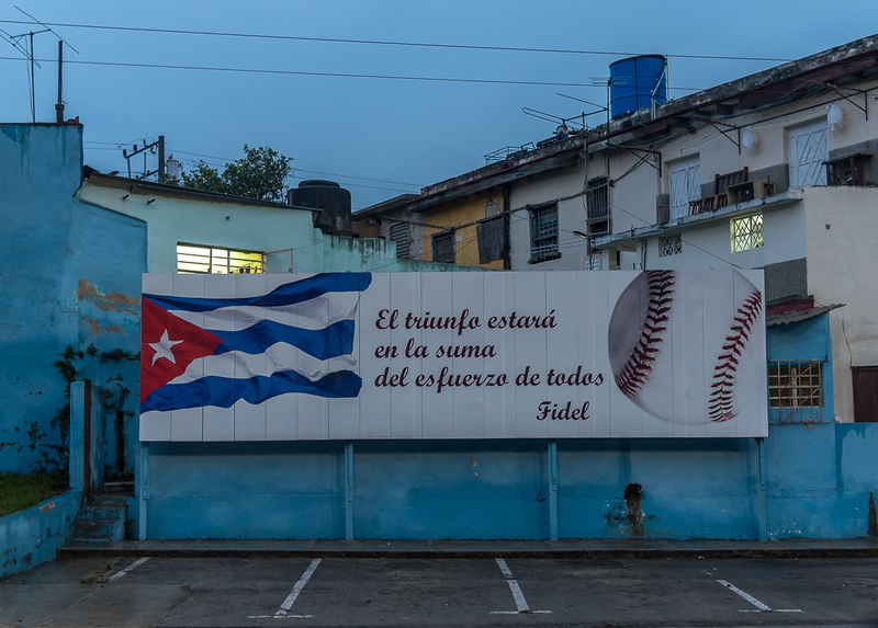 Outside the Baseball Stadium of Havana Industrials