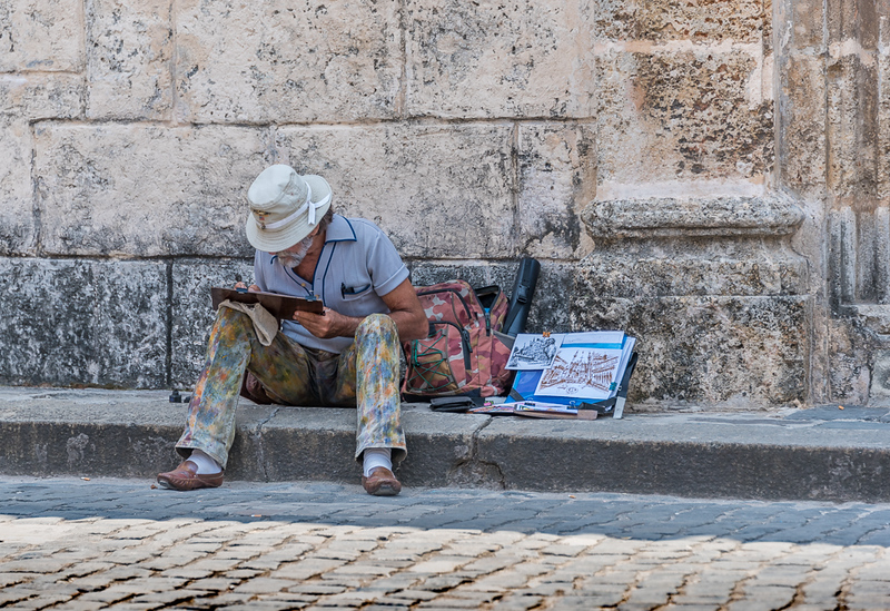 Artist at work, Old Havana Cuba