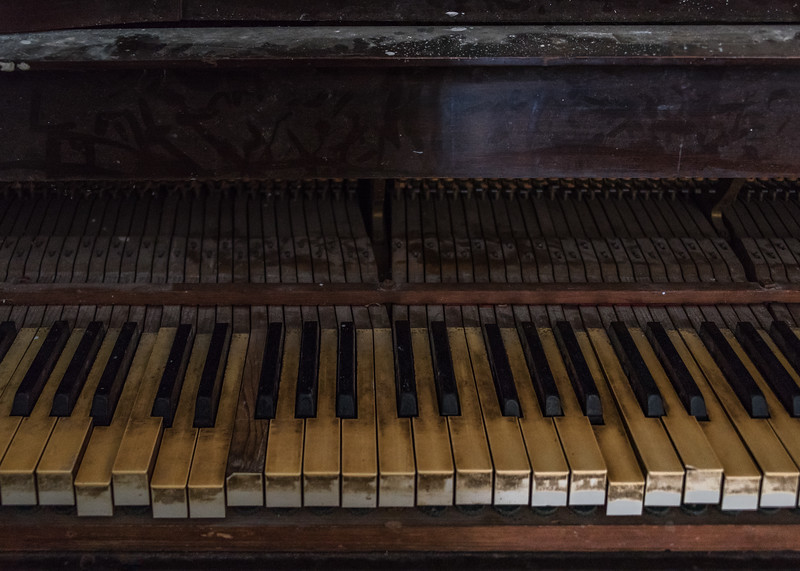Old Piano in Basement