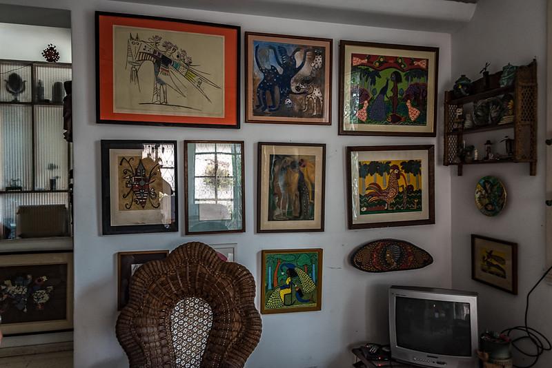 Art Inside Nisia's home