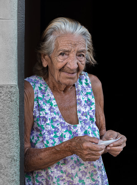 Elderly woman in Trinidad