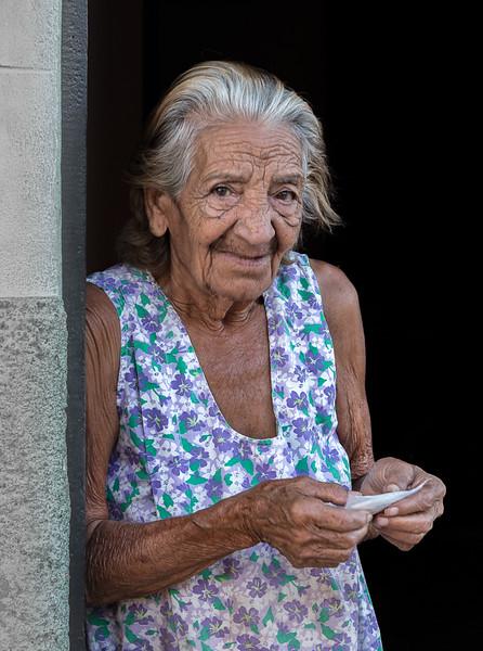 Elderly woman in Trinidad