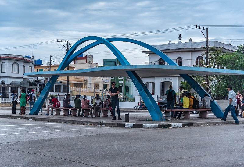 Bus Stop, Havana Cuba