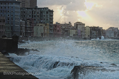 The Malecon after Hurricane Michelle in 2001