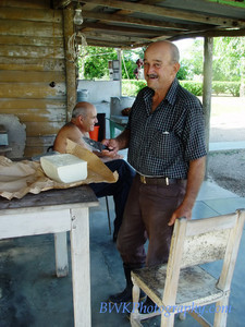 Buying cheese in the countryside, near Marti