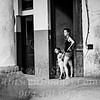 Mom and Daughter Waiting Out the Rain - Havana - B&W Copyright 2017 Steve Leimberg UnSeenImages Com _Z2A5516