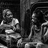 Three Ladies Chatting Havana - B&W Copyright 2017 Steve Leimberg UnSeenImages Com _Z2A5561